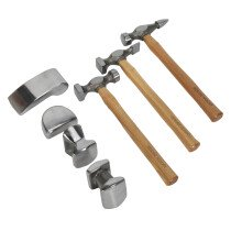 Sealey CB507 Panel Beating Set 7 Piece Drop Forged Hickory Shafts