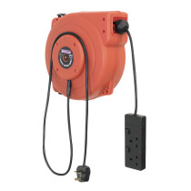Sealey CRM10 Cable Reel System Retractable 10mtr 2 x 230V Socket
