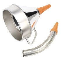 Sealey FM20F Funnel Metal with Flexi Spout & Filter 200mm
