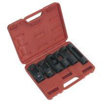 """Sealey SX0401 Diesel Injector Socket Set 1/2""""Drive 6 Piece"""