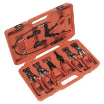 Sealey VS1662 Hose Clamp Removal Tool Kit 7 Piece
