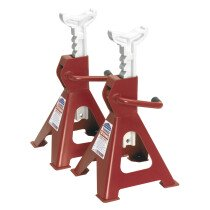 Sealey VS2002 Axle Stands 2ton Capacity per Stand 4ton per Pair GS/TUV Ratchet Type