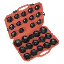 Sealey VS7006 Oil Filter Cap Wrench Set 30 Piece