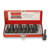 "ISS SET08MHDA 9 Piece Imperial AF 1/2"" Drive Male Hexagon Impact Driver Set"