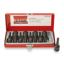 """ISS SET08MHDA 9 Piece Imperial AF 1/2"""" Drive Male Hexagon Impact Driver Set"""