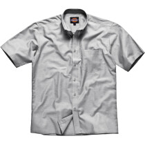 """Dickies SH64250 (Clearance Size) Mens Oxford Weave Short Sleeve Shirt - Silver Grey - (16½"""" Collar, 46"""" Chest)"""