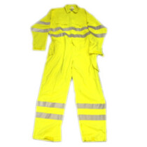 "Sioen TRO119 [CL] Sioen Flame Retardant, Antistatic Coverall Yellow (44"")"