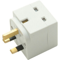 SMJ TW2UAD 2 Way Unfused Adaptor White SMJTW2UAD