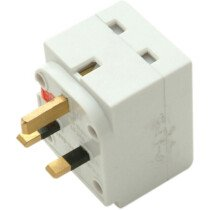 SMJ TW3FAD 3 Way Fused Adaptor White SMJTW3FAD