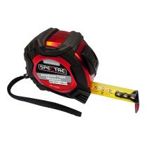 Spectre SP-17025 Anodised Finish Professional Plus 8M/26ft x 25mm Dual-Marked Steel Tape Measure