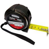 Spectre SP-17028 Professional Plus 8m/26ft x 25mm Dual-Marked Steel Tape Measure