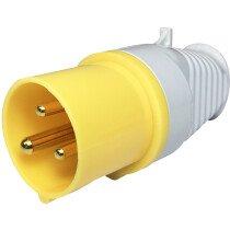 Lawson HIS 950 110V Male Site Plug 16Amp 3 Pin