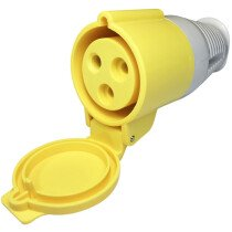 Spectre SP-17116 110V 32A 3 Pin Yellow Female Coupler IP44