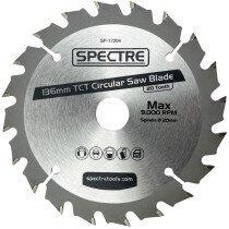 Spectre SP-17204 136 x 20mm 20 Tooth TCT Circular Saw Blade