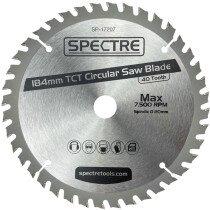 Spectre SP-17207 180 x 20mm 40 Tooth TCT Circular Saw Blade