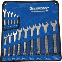 Silverline SP52 Combination Spanners Set 14 Piece Imperial