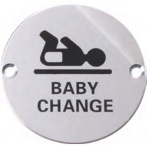Marcus SS-SIGN004-P Polished Baby Change Circular Symbol
