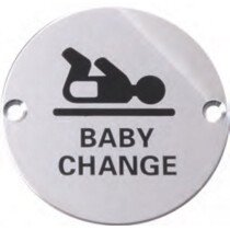 Marcus SS-SIGN004-P Polished Baby Change Circular Symbol