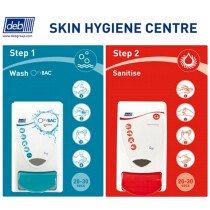 Deb SSC2FWS Skin Hygiene Centre 2-Step Wash/Sanitise
