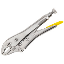 """Stanley 0-84-808 Locking Pliers 185mm (7"""") Curved Jaw STA084808"""