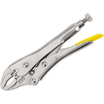 """Stanley 0-84-809 Locking Pliers 225mm (9"""") Curved Jaw STA084809"""