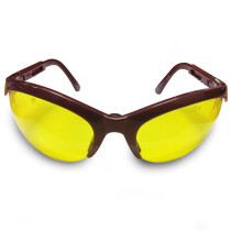JSP ASA390-026-200 Stealth 5104 Maroon Frame Yellow Lens Safety Spectacles Glasses
