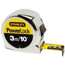 Stanley 0-33-523 Powerlock Classic Tape 3m / 10ft (Width 19mm)  STA033523