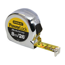 "Stanley 0-33-526 8m/26'x1"" PowerLock® Tape Measure STA033526"