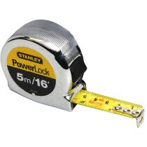 Stanley 0-33-553 Powerlock Classic Tape 5m/16ft (Width 19mm) STA033553