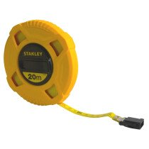 Stanley 0-34-296 Closed Case Fibreglass Tape Measure 20m STA034296