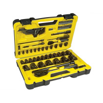Stanley STHT0-72655 Tech 3 Socket Set of 78 1/4in & 1/2in Drive STA072655