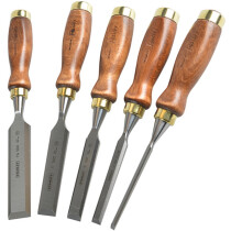 Stanley 1-16-503 Bailey Chisel Set of 5 in Leather Pouch STA116503