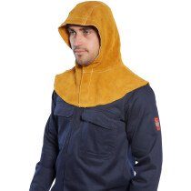 Portwest SW33 Flame Resistant Welding Leather Hood - Tan