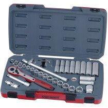 "Teng Tools T1234 34 Piece 1/2"" Drive Metric Socket Set"