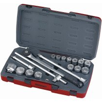 "Teng Tools T3418-6 18 Piece 3/4"" Drive Metric Socket Set TENT34186"