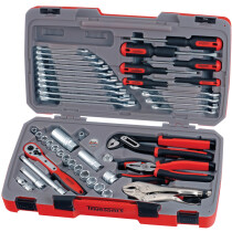 "Teng Tools T3848 48 Piece 3/8"" Drive Metric and AF Socket Set with Tool Kit TENT3848"