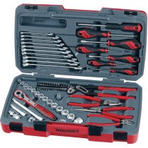 "Teng Tools T3867 67 Piece 3/8"" Drive Metric Socket Set with Tool Kit TENT3867"