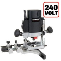 "Trend T5EB 1000W 1/4"" Variable Speed Router 240V - UK sale only"