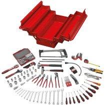 Teng Tools TC144D Portable Service Tool Kit 144 Pieces with TC540 Tool Box