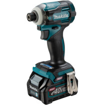 Makita TD001GD209 40v MAX XGT Brushless Impact Driver with 2 x 2.5Ah Batteries and Charger in Case