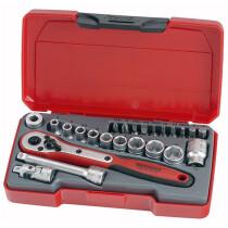"Teng Tools T1424 Socket Set Metric 24 Piece 1/4"" Drive TENT1424"