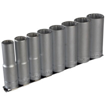 "Teng Tools M1207 9 Piece Clip Rail Socket Set Metric 1/2"" Drive TENM1207"