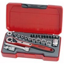 "Teng Tools T1424 Socket Set Metric 24 Piece 1/4"" Drive TENT1424"