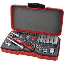 "Teng Tools T1436 Socket Set Metric 36 Piece 1/4"" Drive TENT1436"