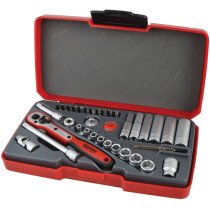 "Teng Tools T1436 Socket Set Metric 36 Piece 1/4"" Drive TENT1436"