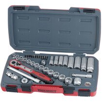 "Teng Tools T3839 Socket Set 39 Piece Metric 3/8"" Drive TENT3839"