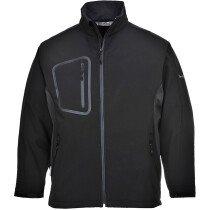 Portwest TK52 Duo Softshell Jacket (3L) Rainwear Softshell - Black
