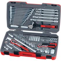 "Teng Tools TM106 106 Piece 1/4"", 3/8"" and 1/2"" Drive Metric Socket and Tool Set"