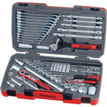 "Teng Tools TM106 106 Piece 1/4"", 3/8"" and 1/2"" Drive Metric Socket and Tool Set"