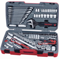 "Teng Tools TM127 127 Piece 1/4"", 3/8"" and 1/2"" Drive Metric/AF Socket and Tool Set"